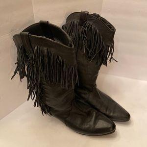 Fringe Black Dingo Boots